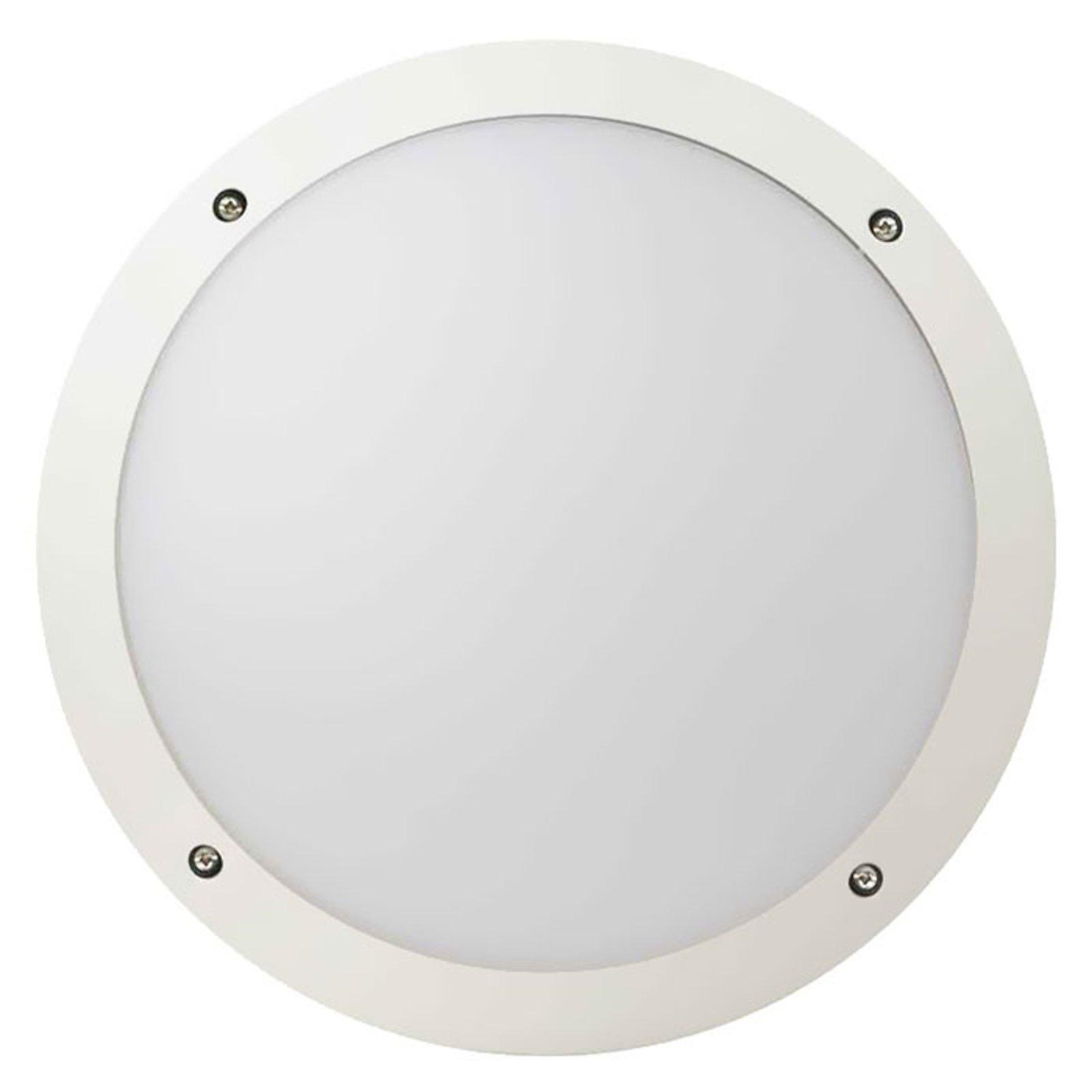 Fonda stabil LED-taklampe, rund, hvit