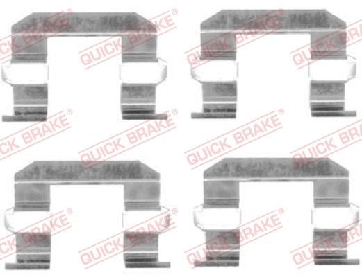 Tarvikesarja, jarrupala QUICK BRAKE 109-1645