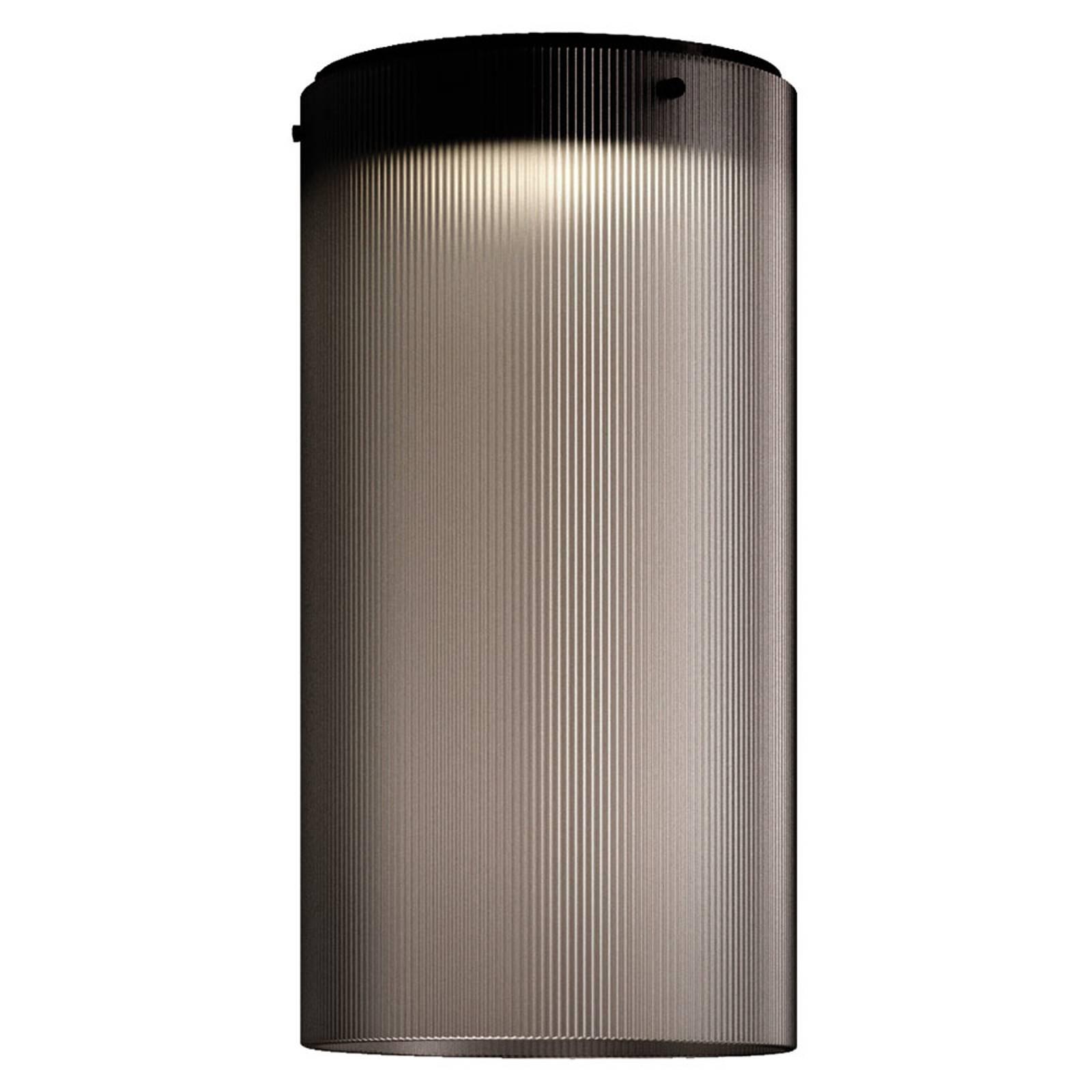 Kundalini Giass -LED-kattovalaisin Ø 25 cm harmaa
