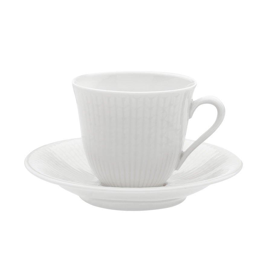 Rörstrand Swedish Grace Snø/Hvit Overkopp Kaffe 16cl