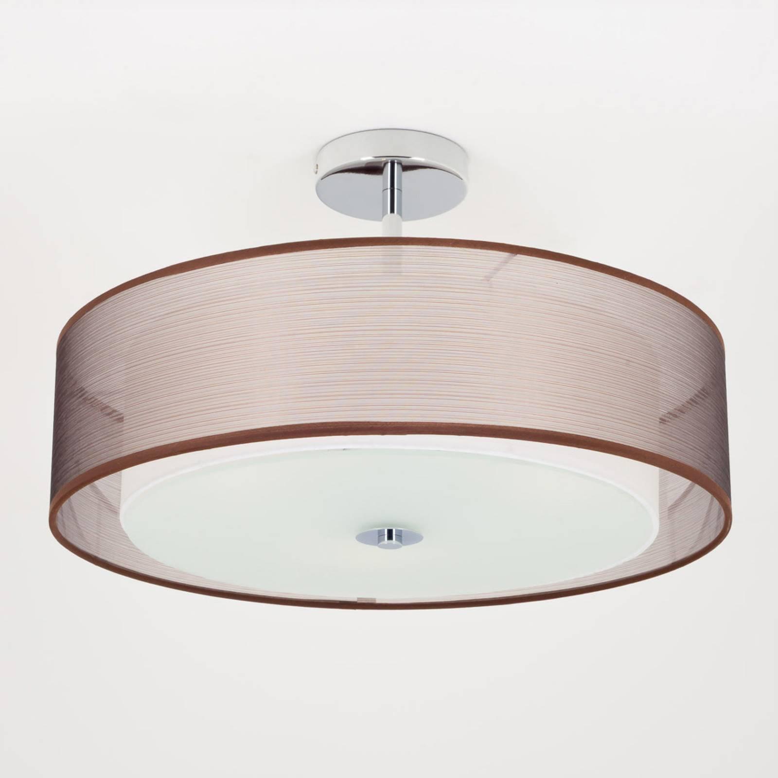 LED-kattovalaisin Pikka, ruskea varjostin