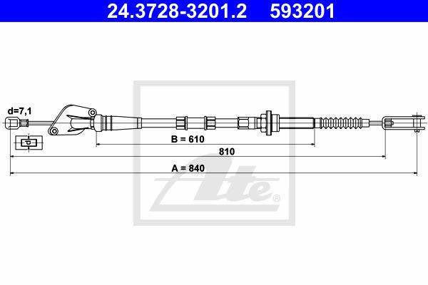 Kytkinvaijeri ATE 24.3728-3201.2