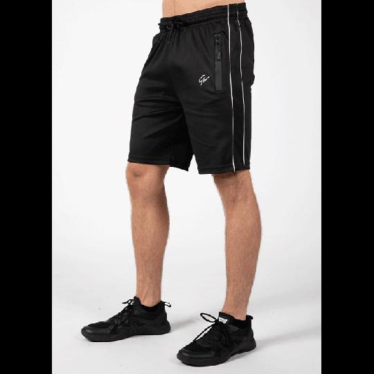 Wenden Track Shorts, Black/White