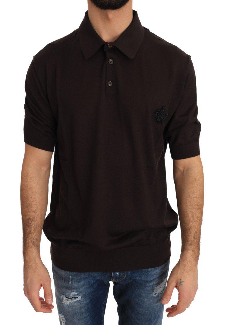 Dolce & Gabbana Men's SS Polo Shirt Brown TSH2315 - IT44 | XS