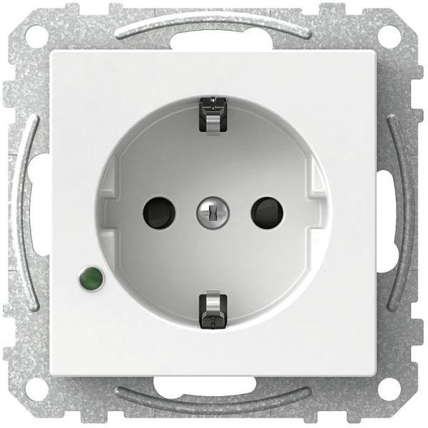 Schneider Electric Exxact WDE002329 Seinäpistorasia LED-merkkivalolla, maadoitettu, 1-osainen