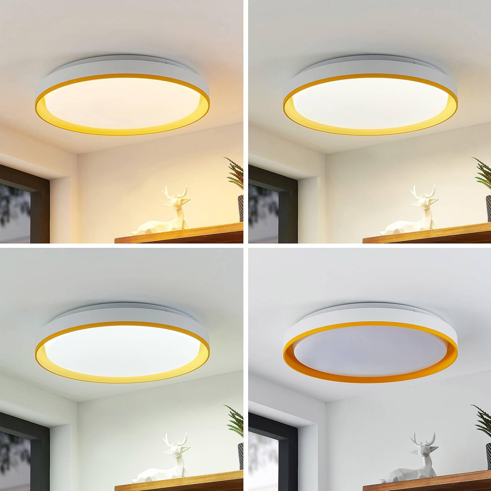 Lindby Divora -LED-kattovalaisin CCT Ø 50,5 cm