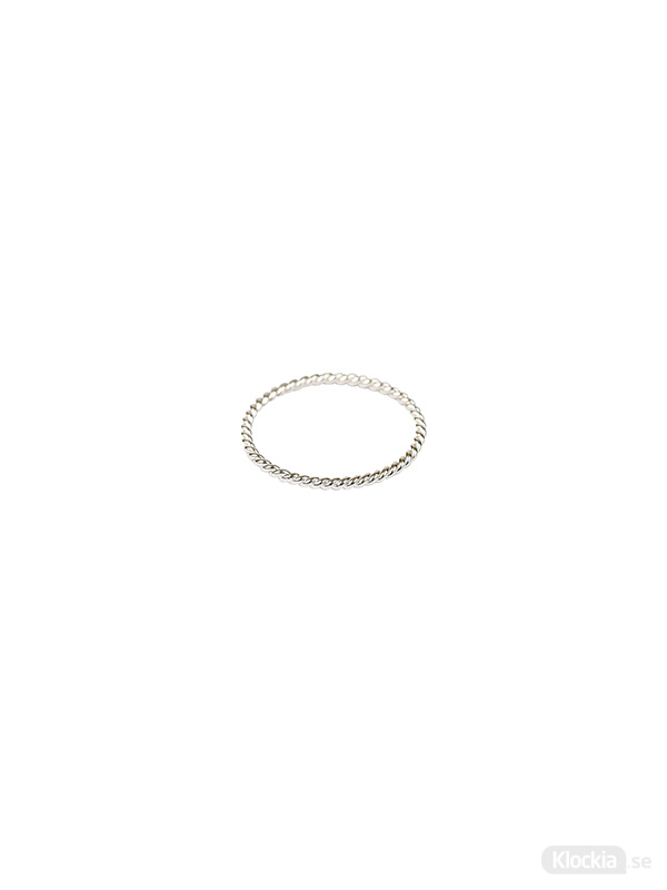Syster P Ring Tiny Twisted - Silver 15.5mm RS1168