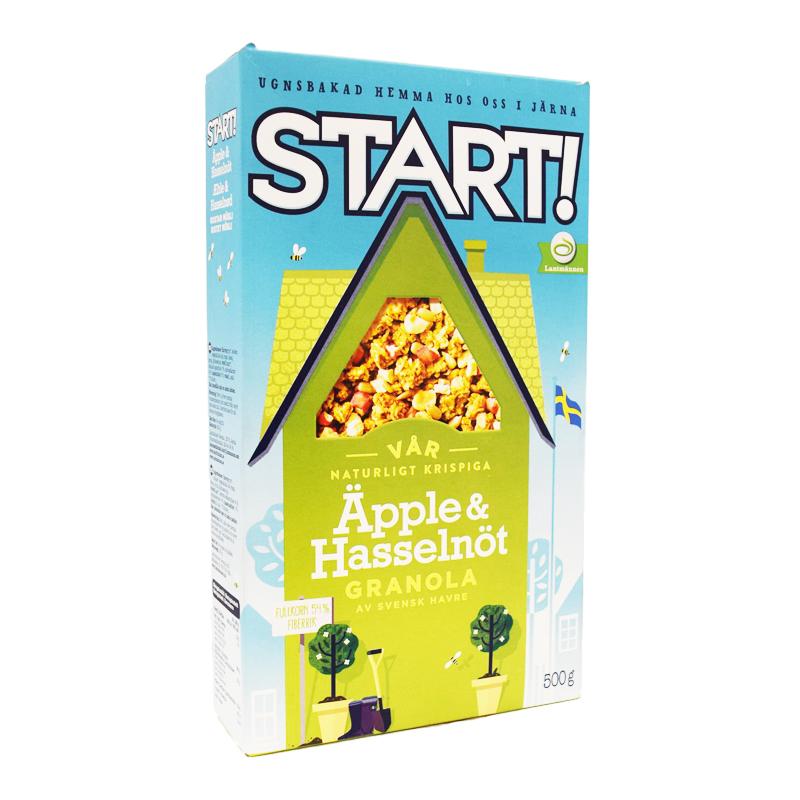Granola Äpple & Hasselnöt 500g - 72% rabatt