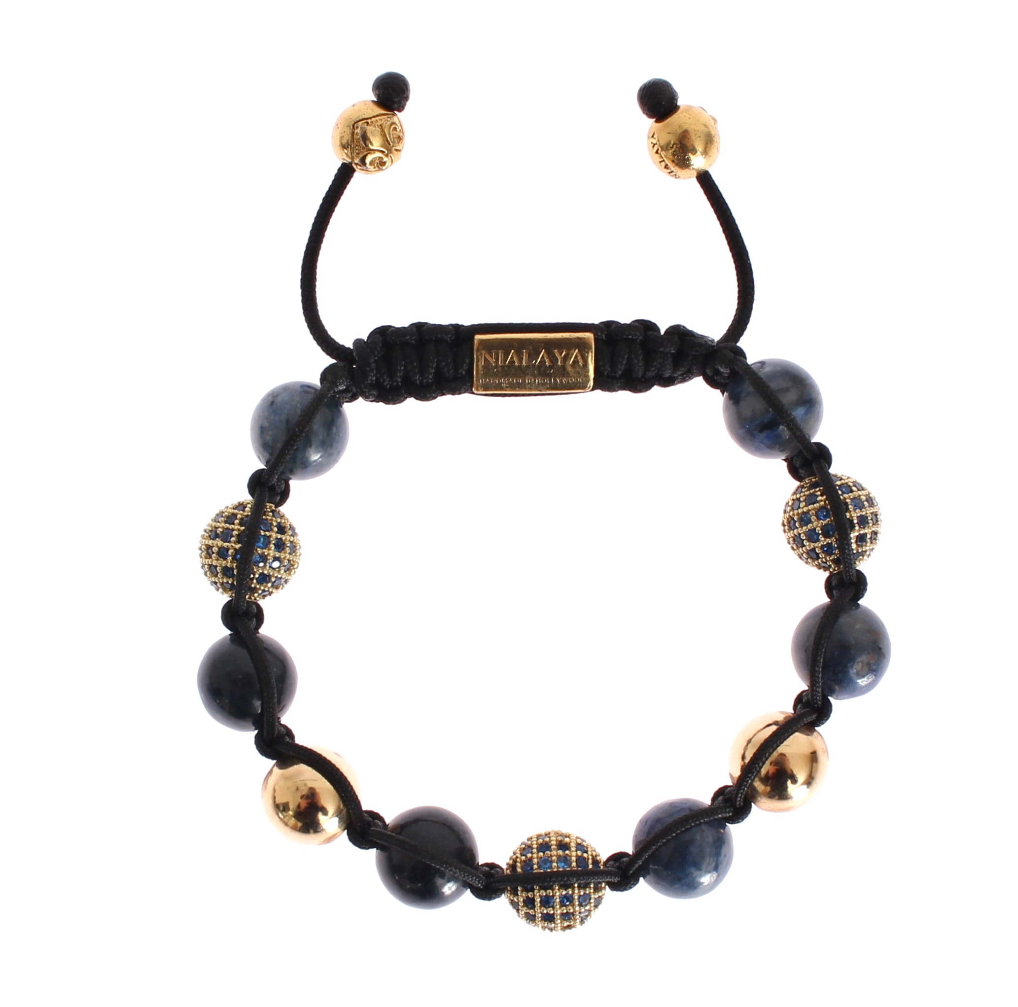 Nialaya Women's CZ Coral Gold 925 Bracelet Blue NIA20279 - M