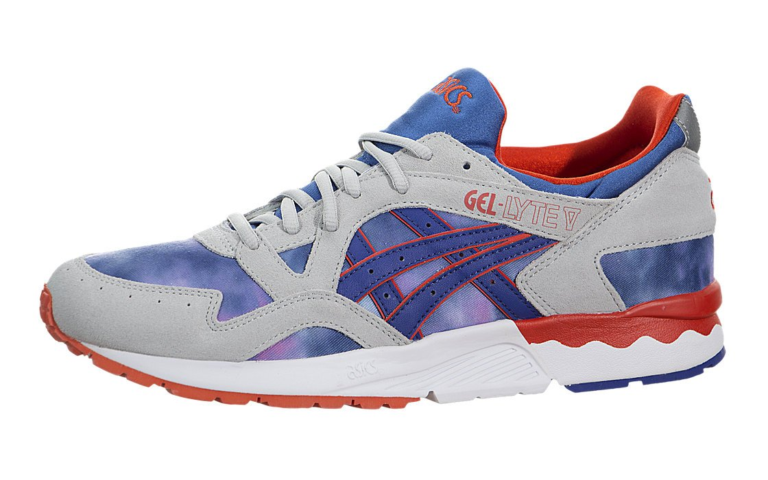 ASICS Men's Gel Lyte V Trainers Tie Dye Dark Blue 8718833026402 - 4 UK Blue