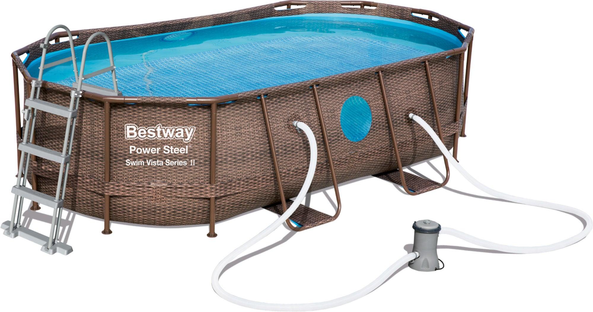 Bestway Power Steel Swim Vista Series Pool m. Tillbehör 427 x 250
