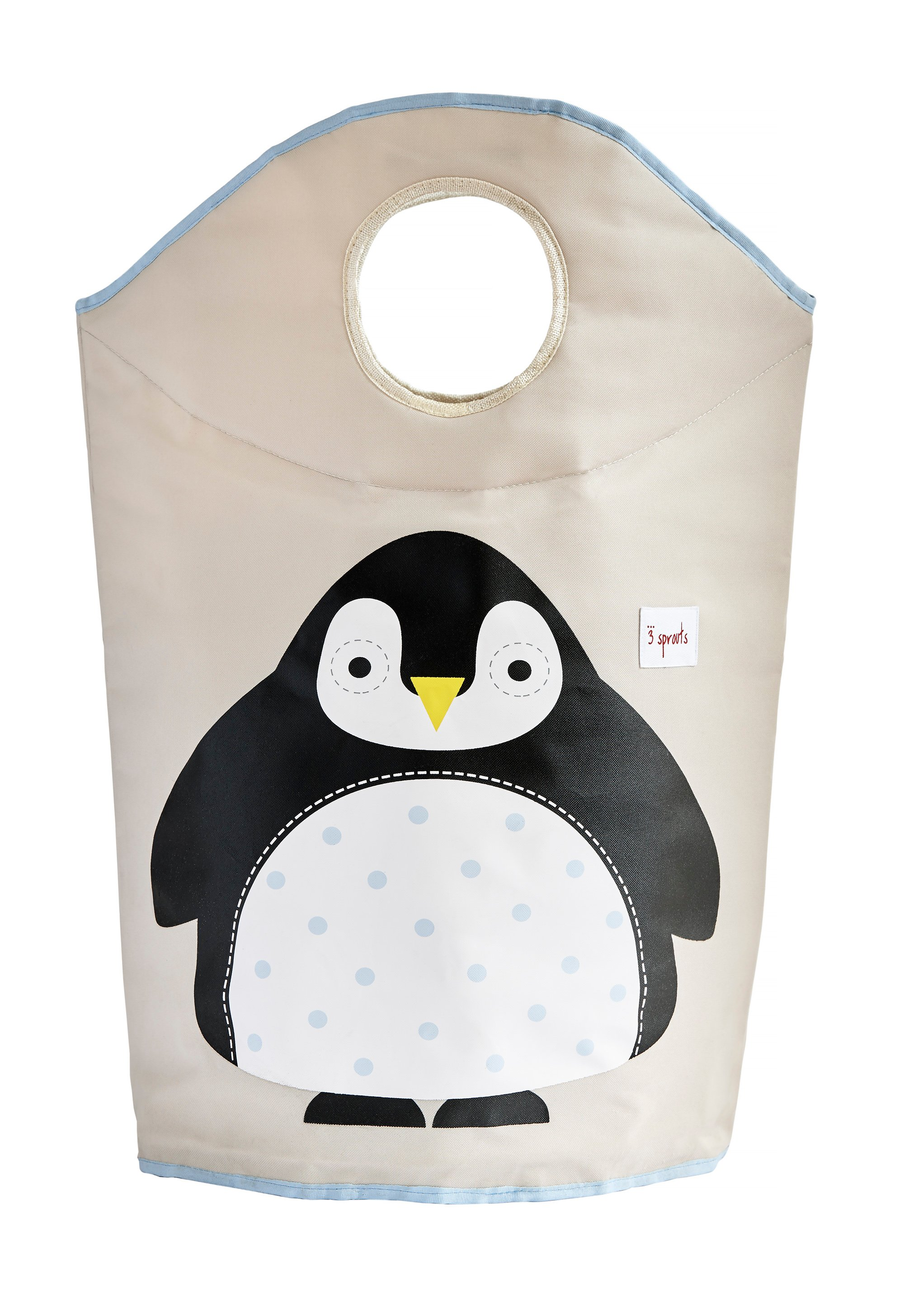 3 Sprouts - Laundry Hamper - Black Penguin