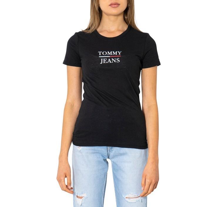 Tommy Hilfiger Jeans Women's T-Shirt Black 298823 - black XXS