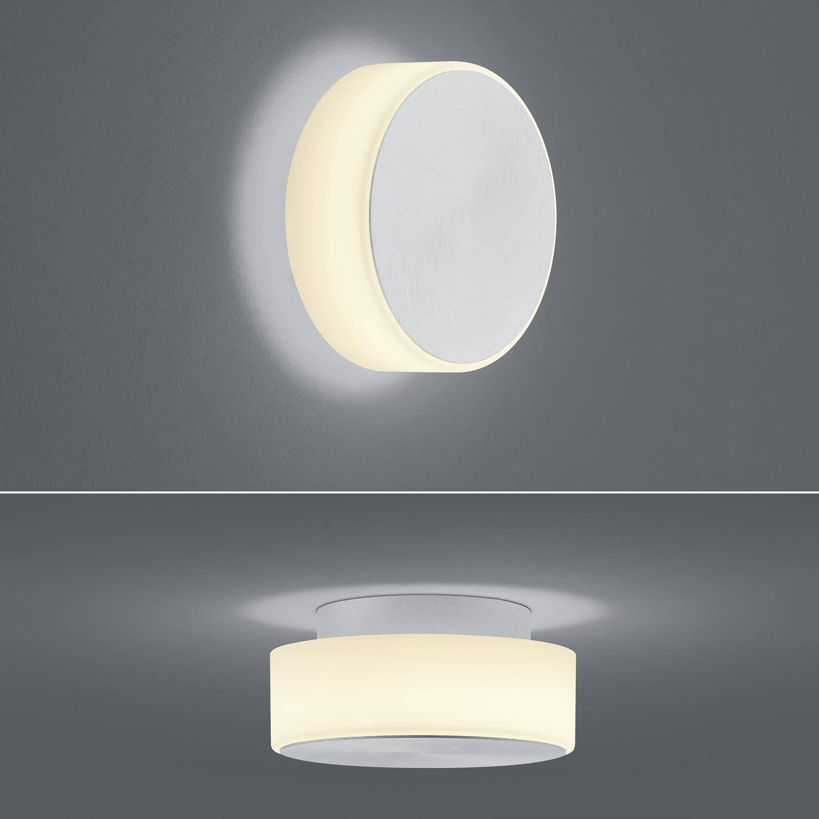 BANKAMP Button LED-seinävalaisin 15,5cm alumiini