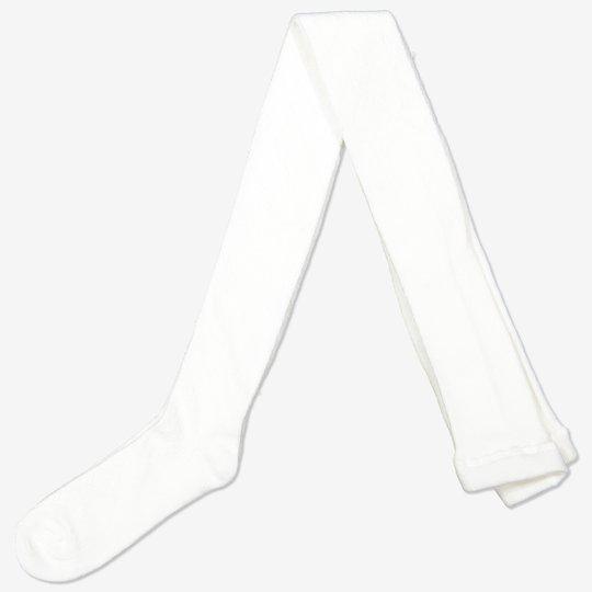 Hullmønstret strømpebukse hvit