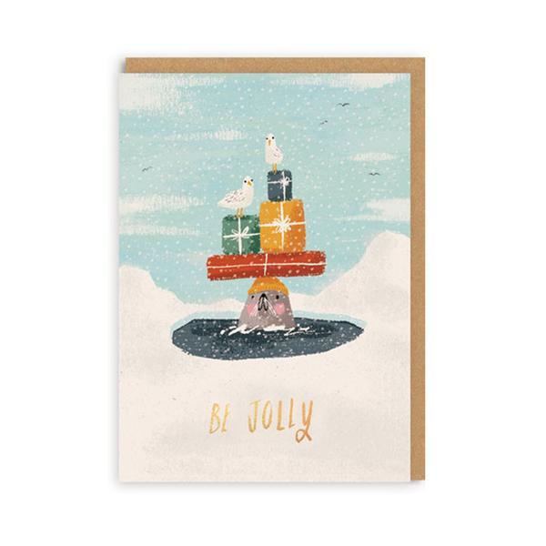 Be Jolly Christmas Card Set A7 - Set of 6