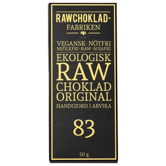 Rawchokladfabriken Ekologisk Rawchoklad Original 83%, 50 g