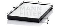 Raitisilmasuodatin MANN-FILTER CU 3943