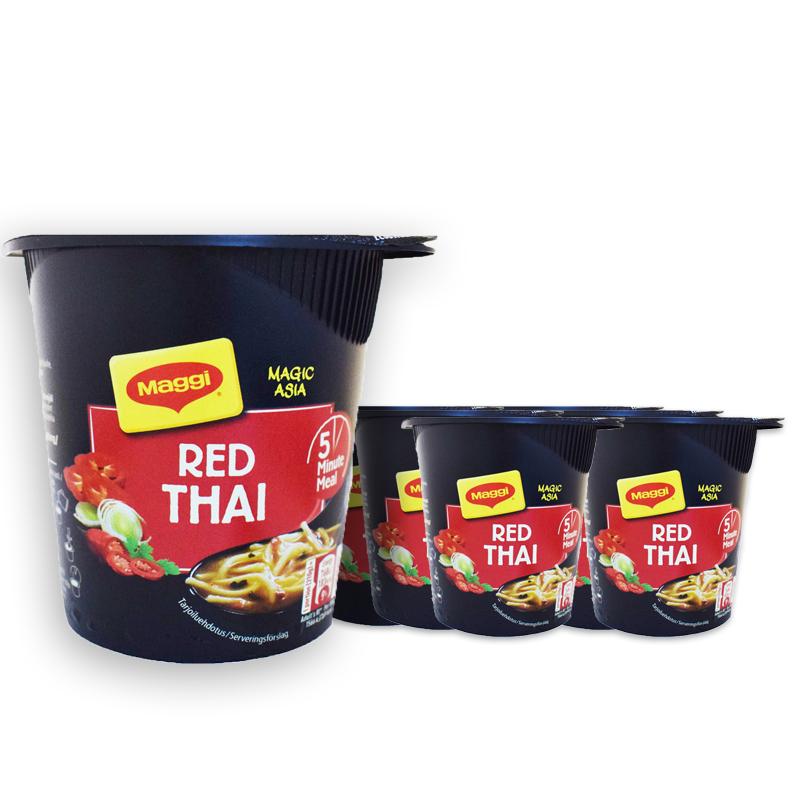 Hel Låda Snabbnudlar Red Thai 8-pack - 20% rabatt