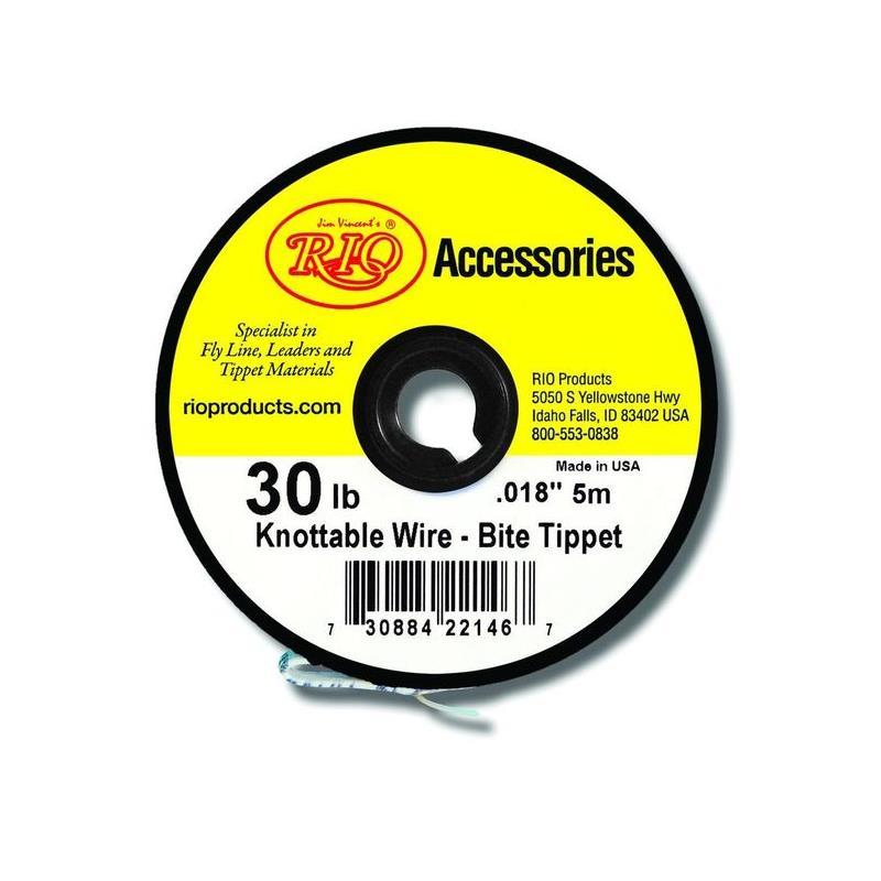 Rio Powerflex 0,45mm./13,6kg Wire Tippet Spole på 5 meter