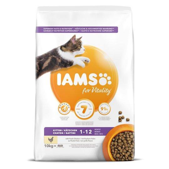 Iams for Vitality Cat Kitten Chicken (10 kg)