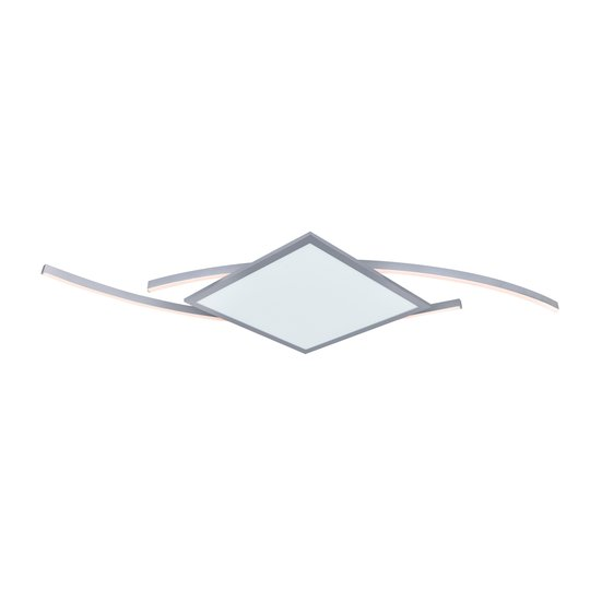 Lucande Tiaro -LED-kattovalo kulmikas 56,6 cm, CCT