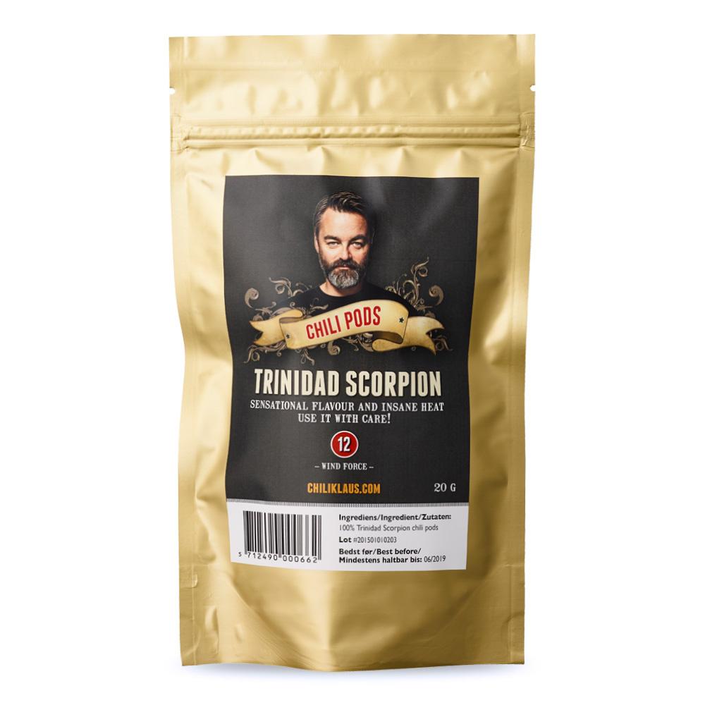 Chili Klaus Trinidad Scorpion Pods 20g
