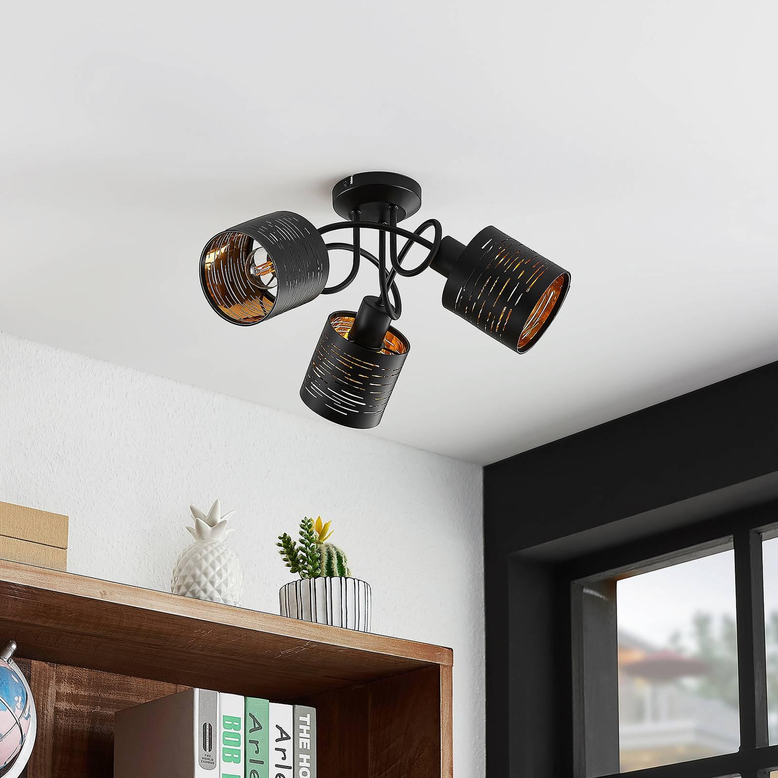 Lindby Iolyn -kattovalaisin, 3-lamppuinen