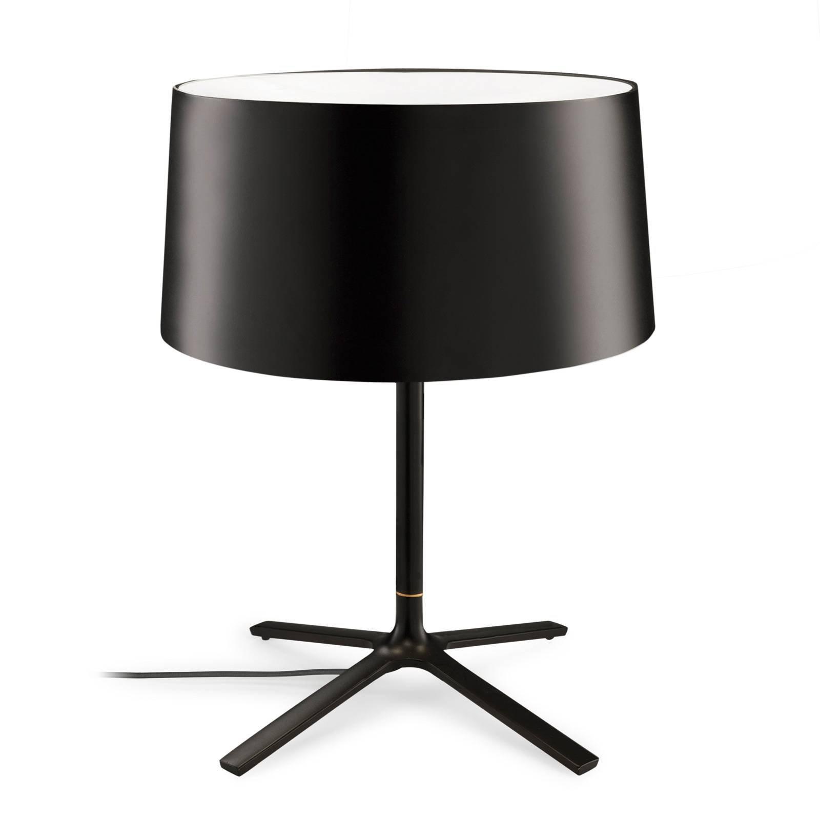 Grok Hall bordlampe med stoffskjerm, svart