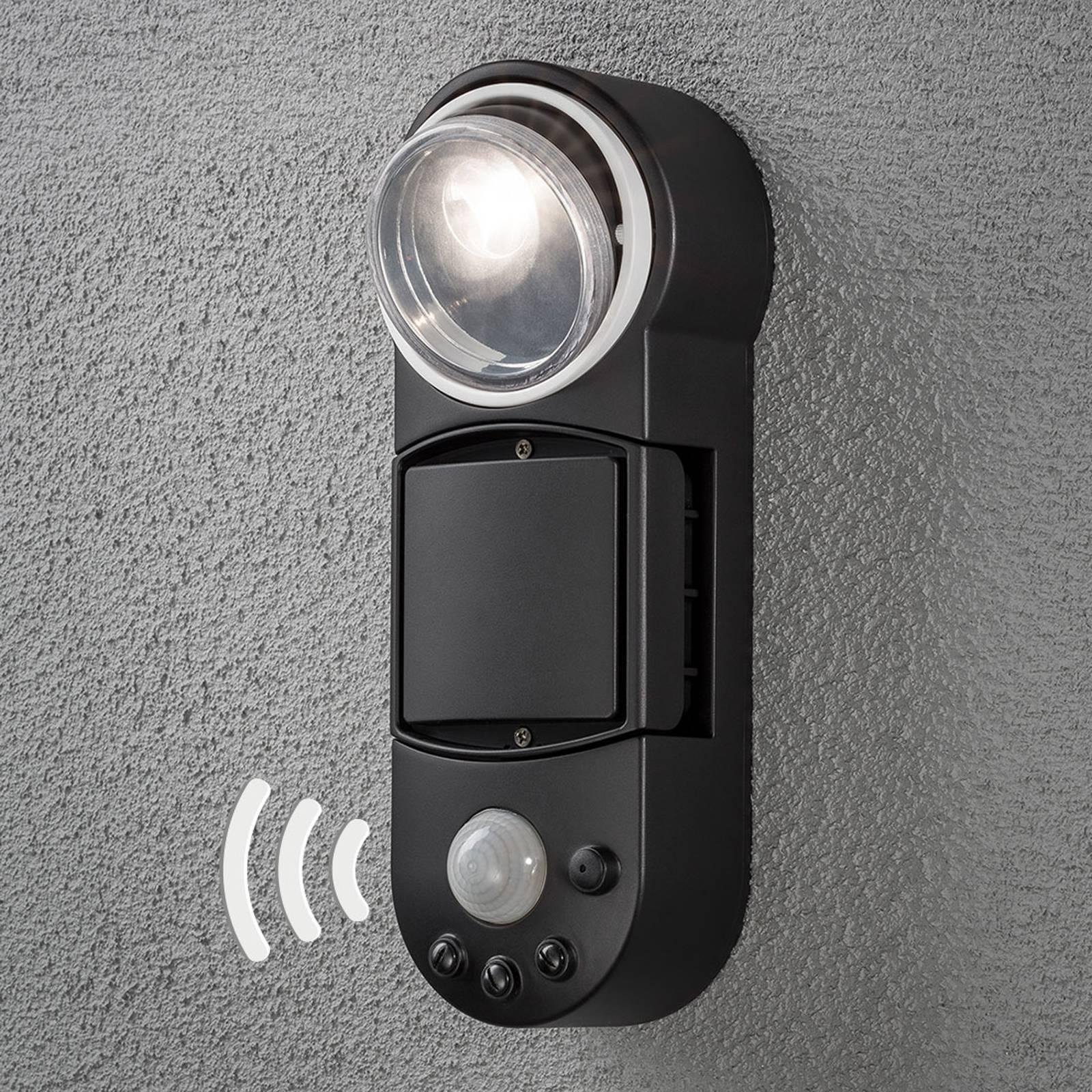 LED-ulkoseinävalaisin Prato, paristokäyttö, 10 cm