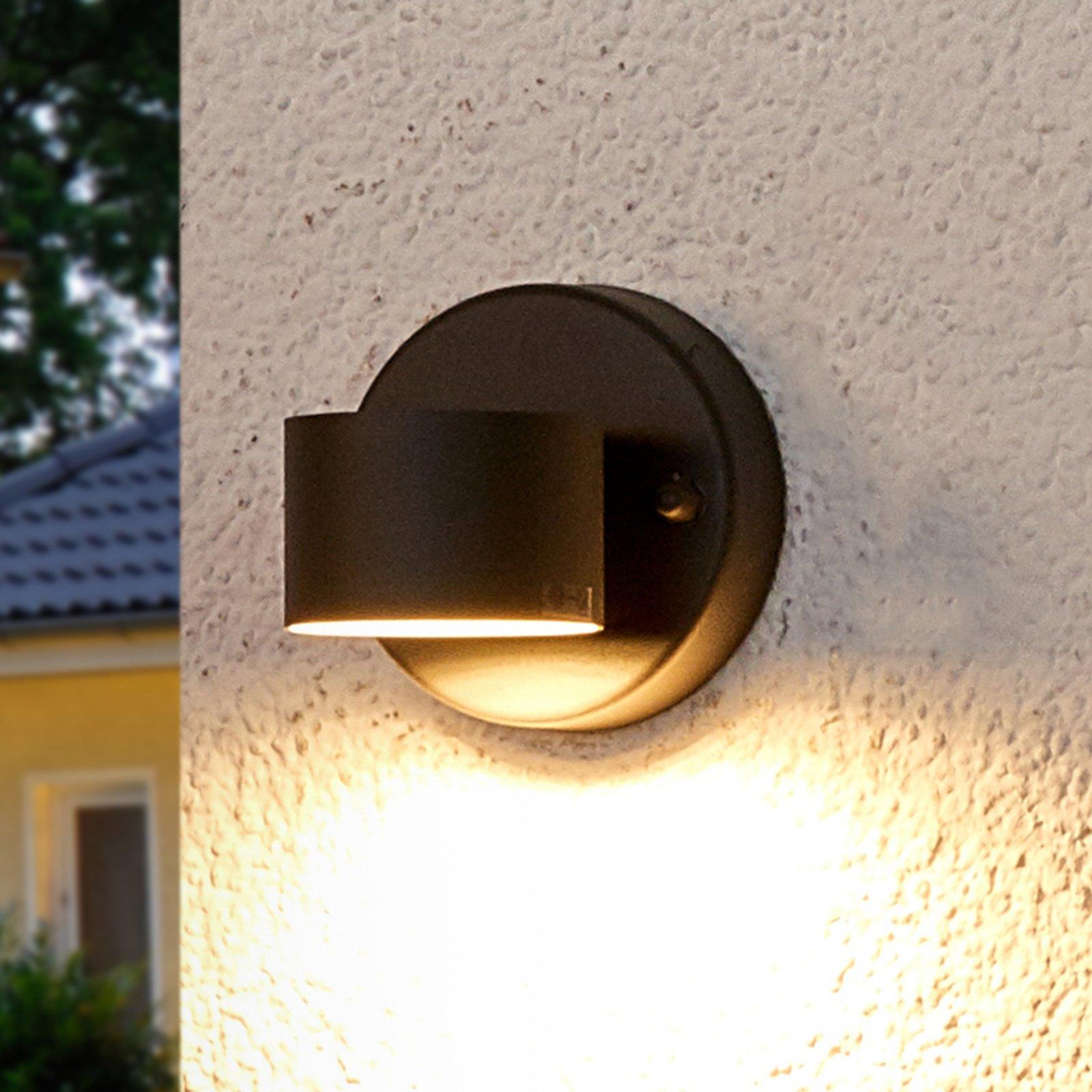 Koksgrå LED-utevegglampe Lexi