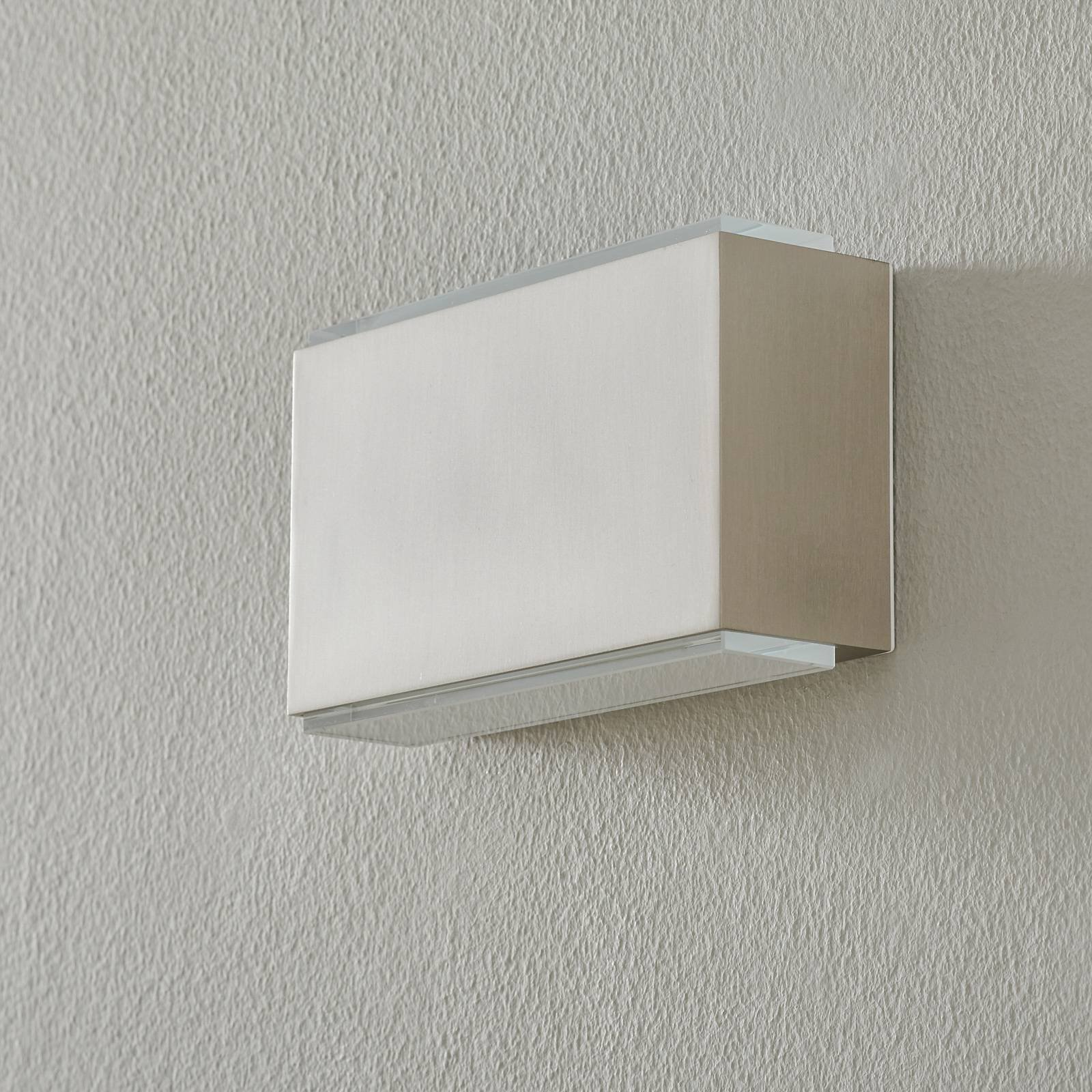 BEGA 23015 LED-vegglampe 3 000 K 18 cm stål 1260lm