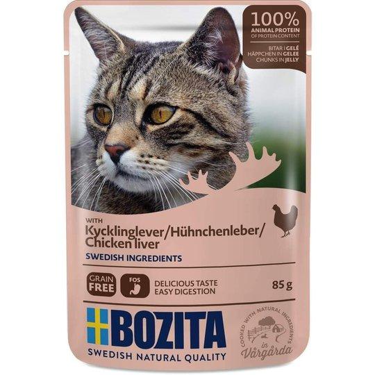 Bozita Cat Kycklinglever i Gelé 85 g