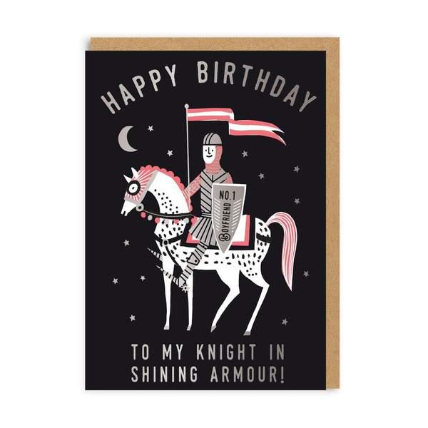 Boyfriend Knight Birthday Greeting Card