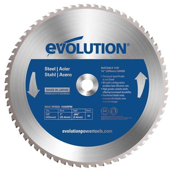Evolution EV355S Sahanterä 355x25,4mm, 66T