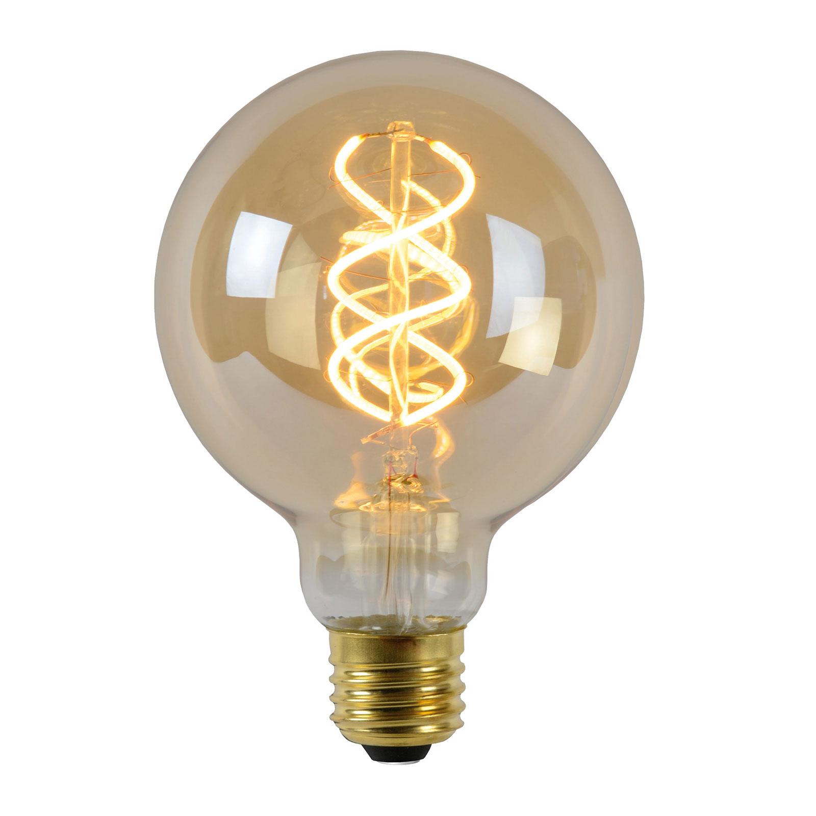 LED-lamppu E27 Globe 4W 2 200 K amber tunnistin