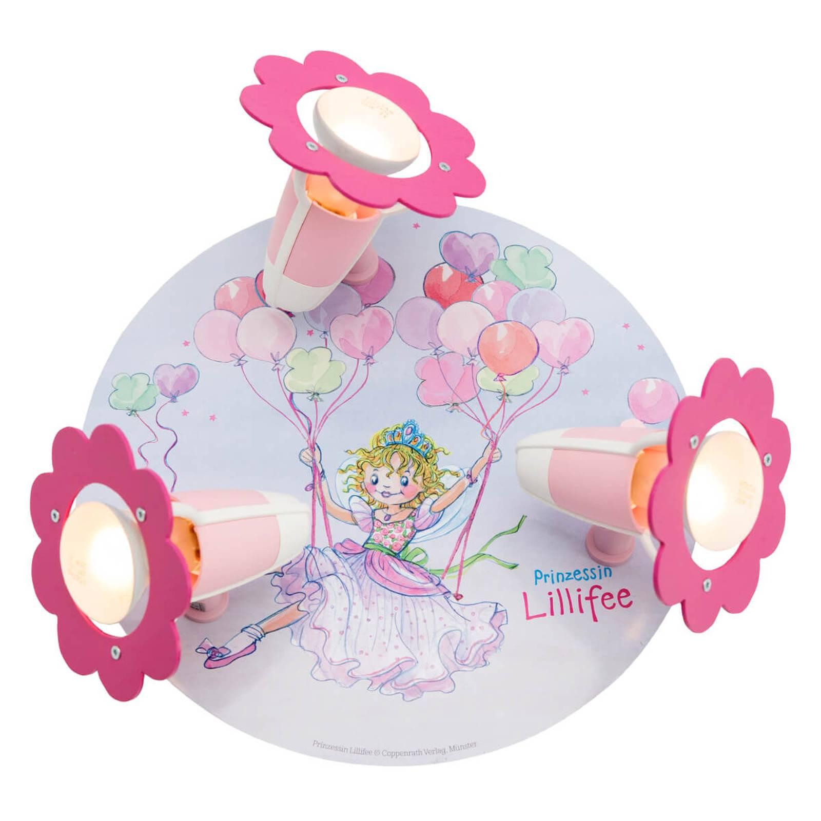 Prinsessa Lillifee -kattovalaisin, 3-lamppuinen