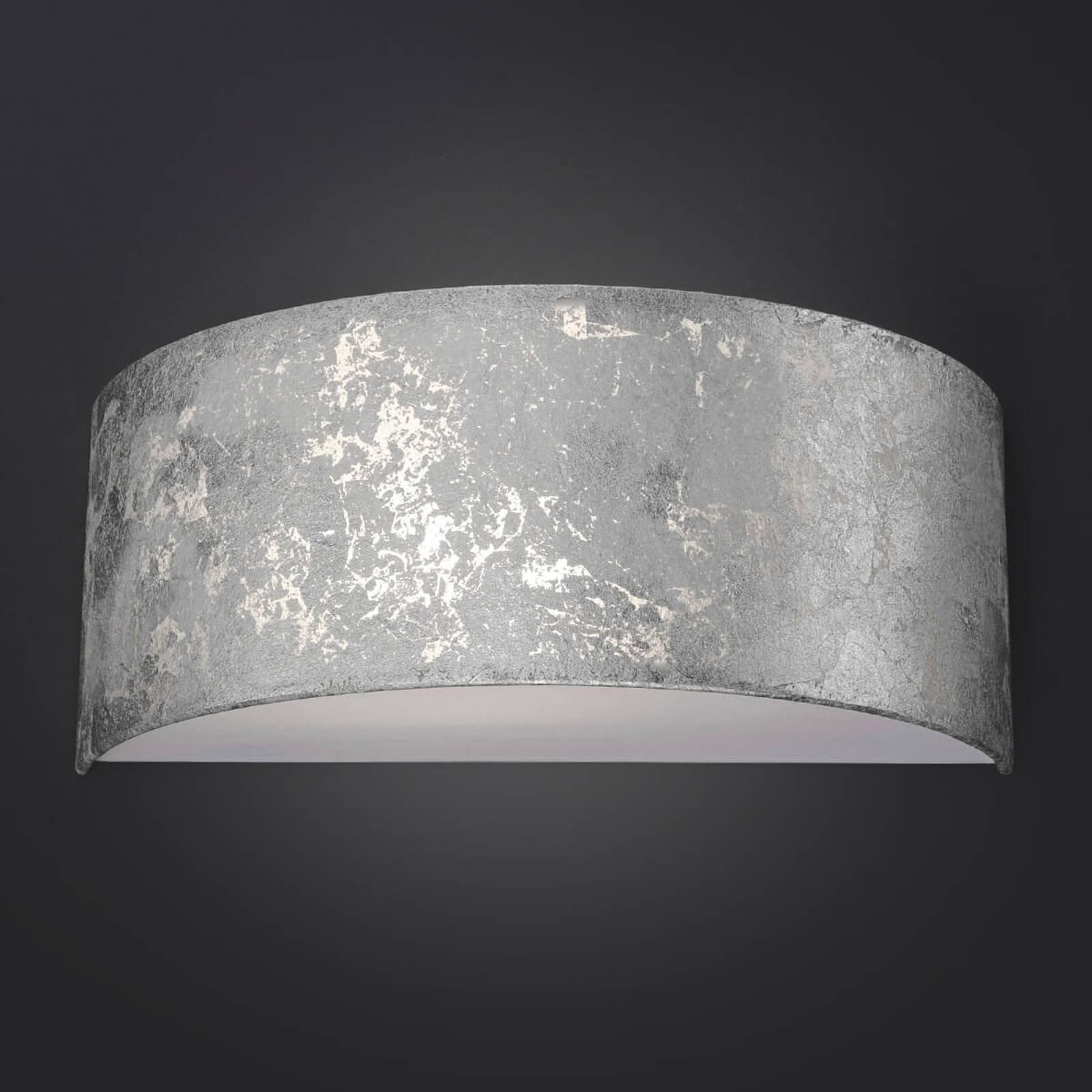 LED-vegglampe Alea med bladsølv, dimbar