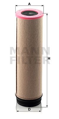 Toisioilmasuodatin MANN-FILTER CF 1650