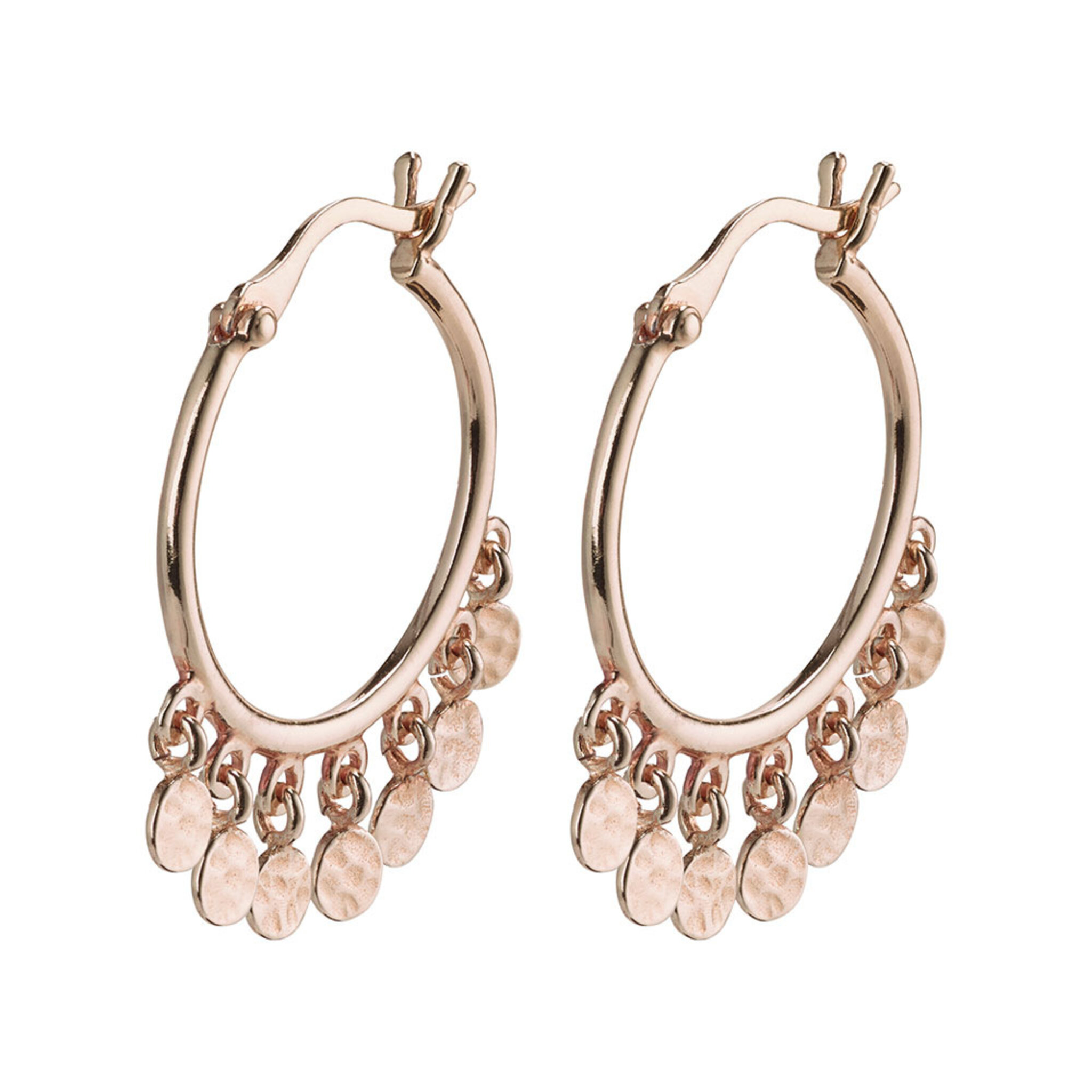 Earrings : Panna : Rose Gold Plated, ONE SIZE