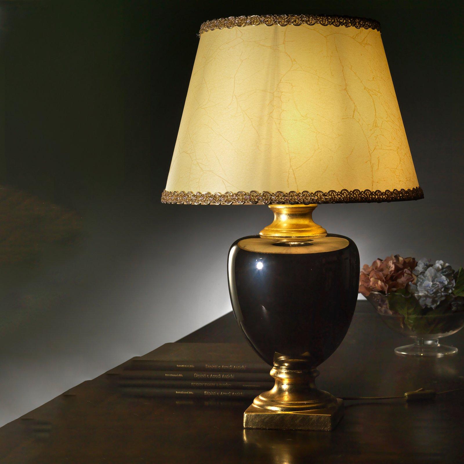 Bordlampe Mozart i svart/gull