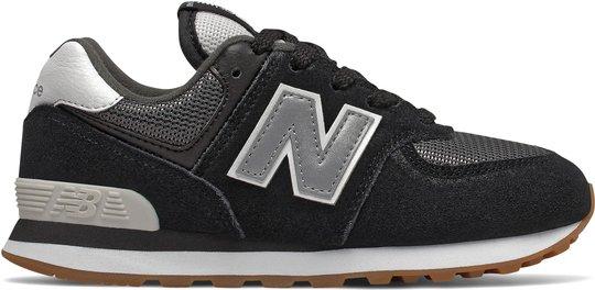 New Balance 574 Sneaker, Black, 33
