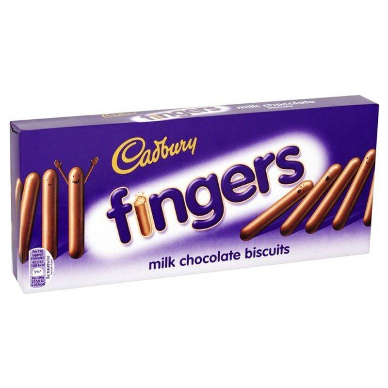"""Keksit """"Cadbury Fingers"""" 114g - 37% alennus"""