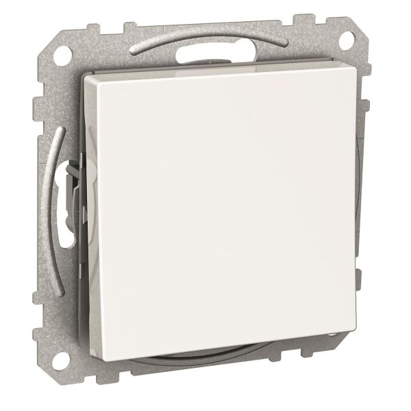 Schneider Electric Exxact WDE002122 Strømbryter firkantet vippe, med klemmer, hvit Trapp/1 pol