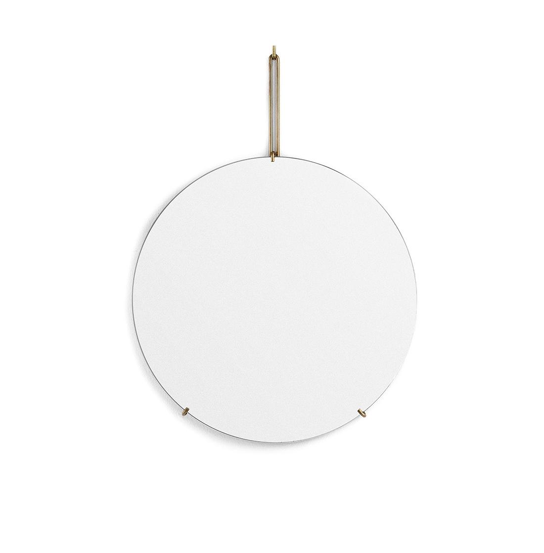 Spegel Ø50cm WALL MIRROR brass, MOEBE