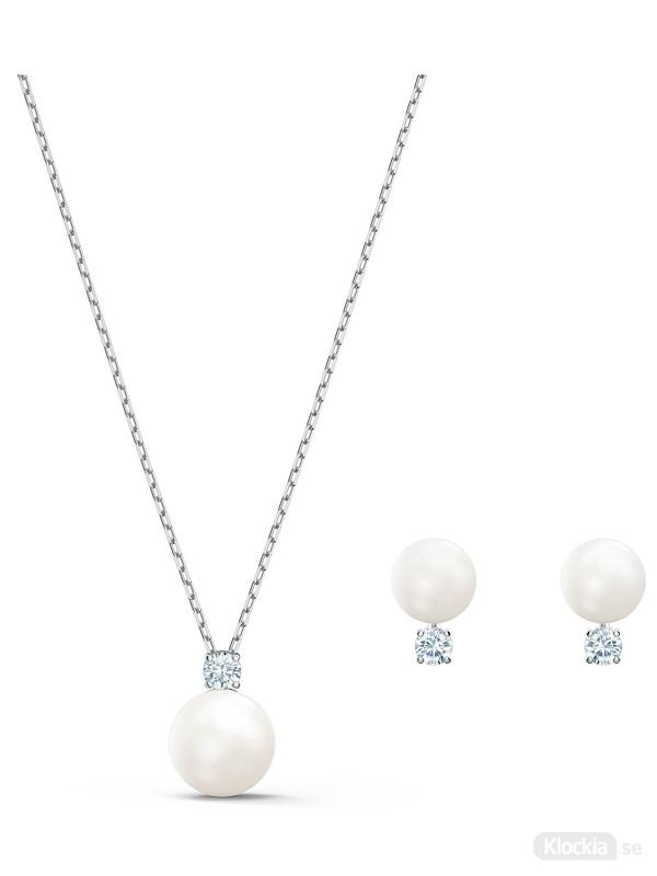 Swarovski Halsband & Örhängen Treasure Pearl Set 5569758
