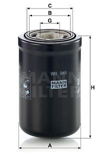 Hydrauliikkasuodatin, automaattivaihteisto MANN-FILTER WH 945