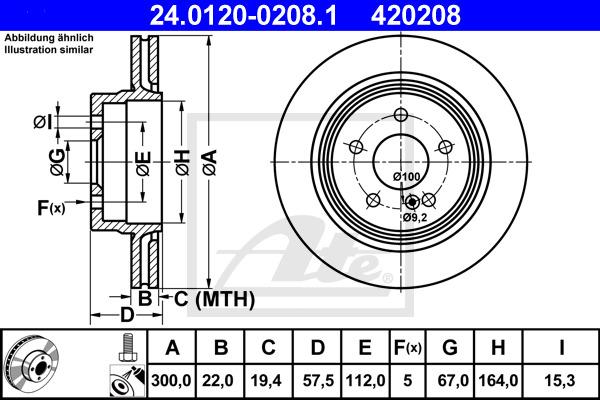 Jarrulevy ATE 24.0120-0208.1