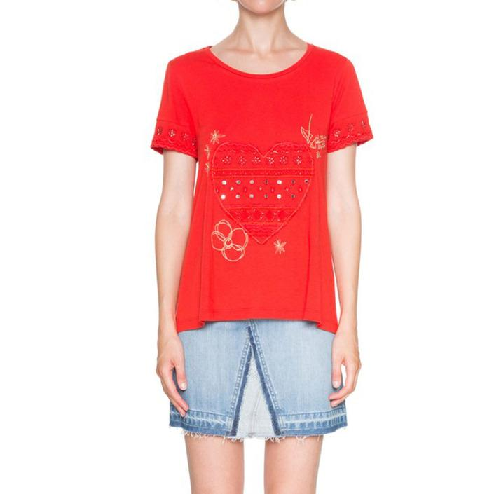 Desigual Women's T-Shirt Red 163880 - red S