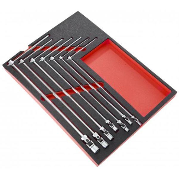 Facom MODM.99B Pipenøkkelsett sekskantnøkler, T-håndtak 7–19 mm, i skummodul